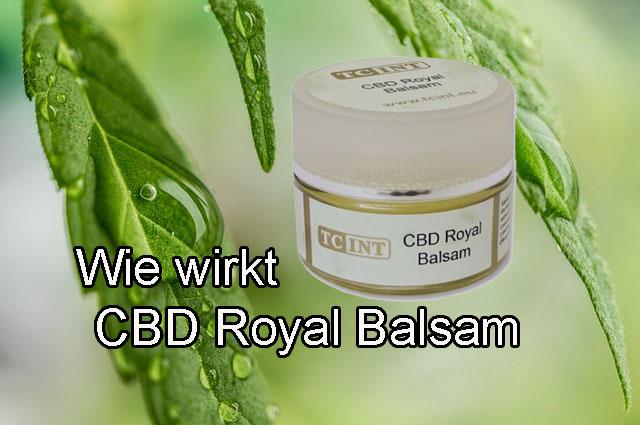 Wie wirkt das CBD Royal Balsam