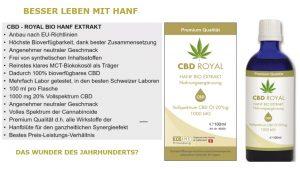 Warum CBD Royal Hanf Bio Extrakt nehmen